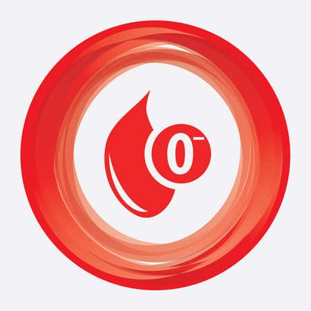 negative: o negative blood group Illustration