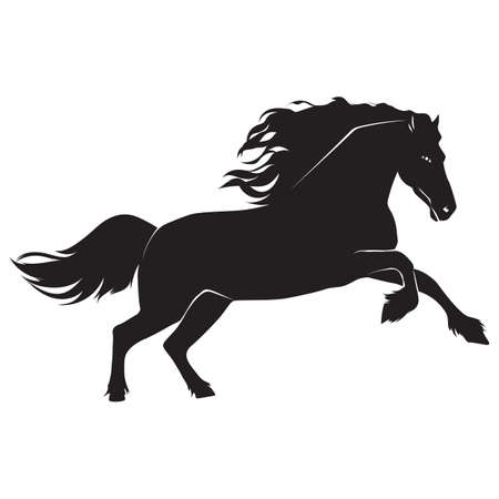 gallop: silhouette of horse