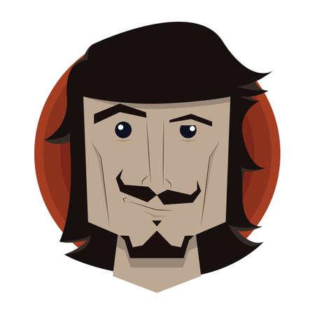 smirking: man with smirking expression Illustration