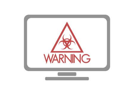 riesgo biologico: s�mbolo de riesgo biol�gico en el monitor Vectores
