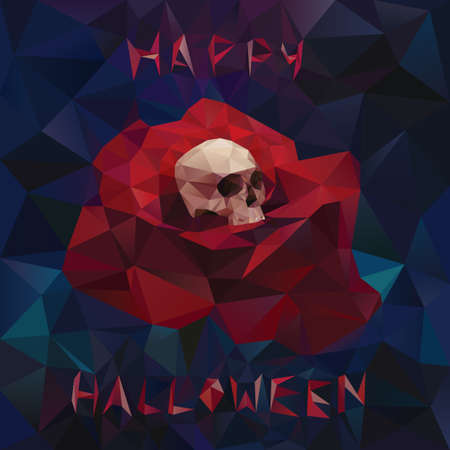 faceted: faceted halloween greeting card Illustration