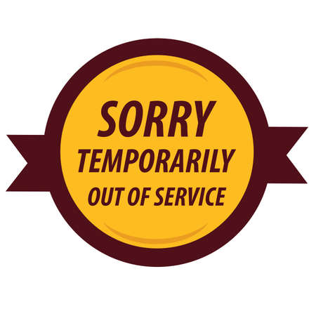 out: out of service label Illustration