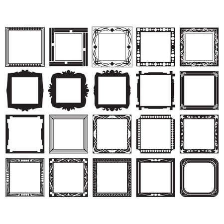 framework: collection of frames Illustration