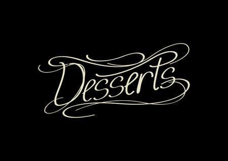 word: word desserts Illustration