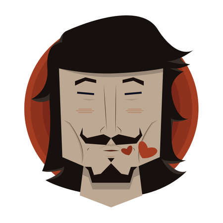 puckering lips: man puckering his lips