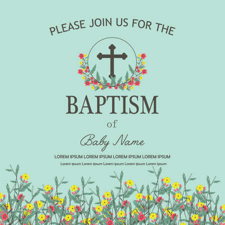 baptism flyer Ilustração