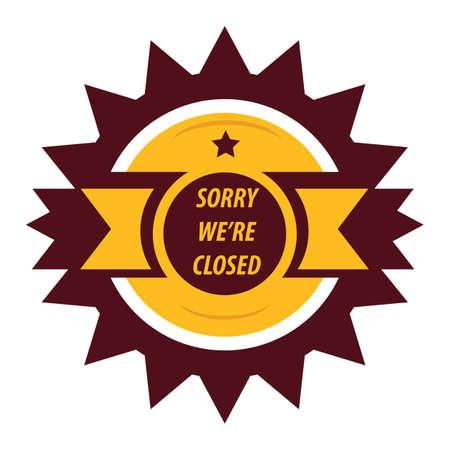 closed: closed sign label