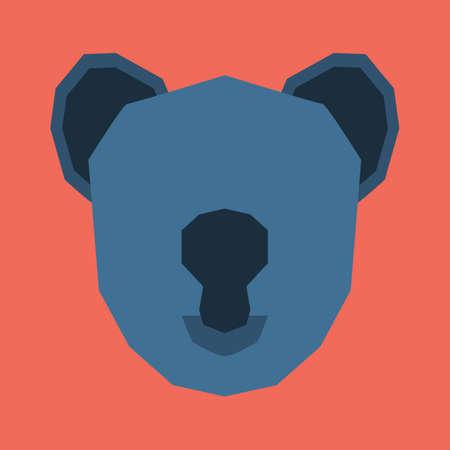 mammalian: silhouette of koala face