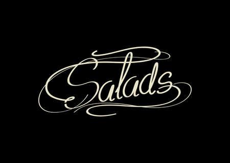 word: word salads Illustration