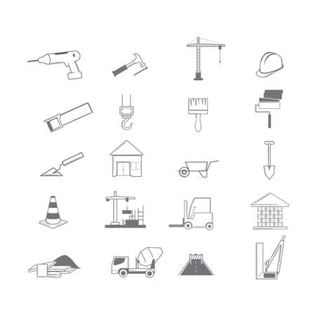 collection of construction icons Vektorové ilustrace