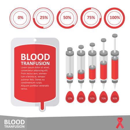 Infographic bloedtransfusie Stockfoto - 52729082