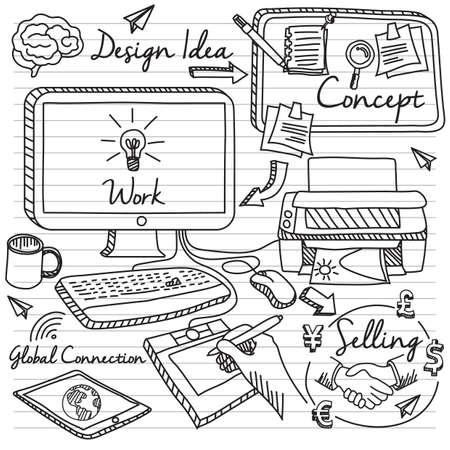 network concept: marketing network concept Illustration