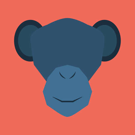 cut outs: silhouette of monkey face