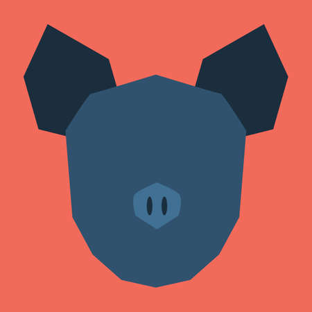 cut outs: silhouette of pig face