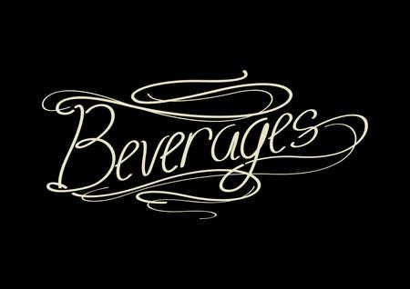 word: word beverages Illustration