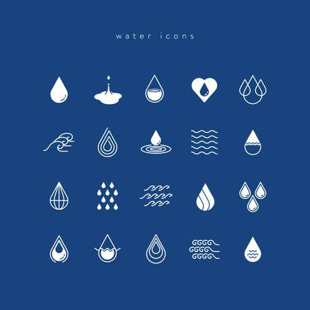 iconos del agua establecen