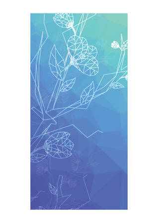 faceted: faceted floral background