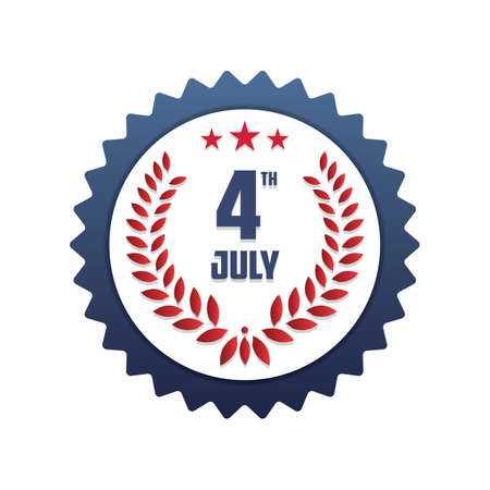 4th: 4th of july label