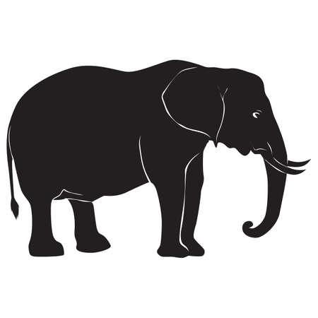 silhouet van de olifant