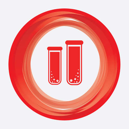 hemoglobin: blood sample in test tube Illustration