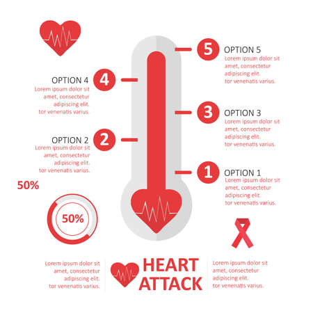 heart attack: infographic of heart attack