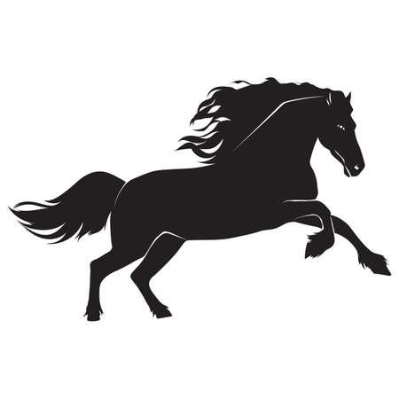 Silhouette des Pferdes Standard-Bild - 52744625