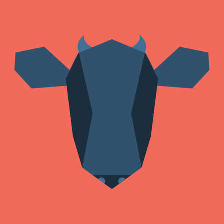 cut outs: silhouette of cow face