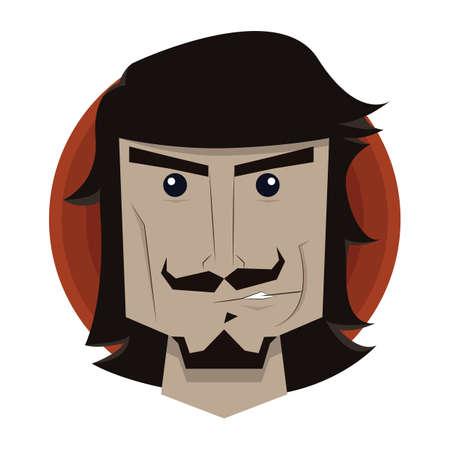 smirking: man smirking Illustration