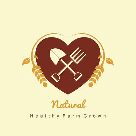 Natur Farm icon Vektorgrafik