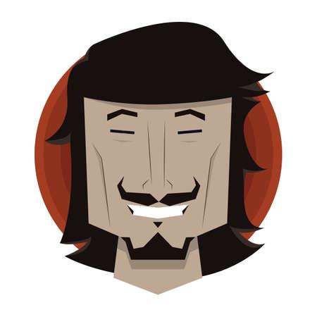 smirking: man grinning Illustration