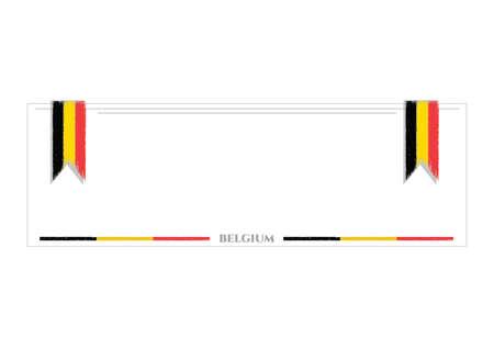belgium flag: banner with belgium flag