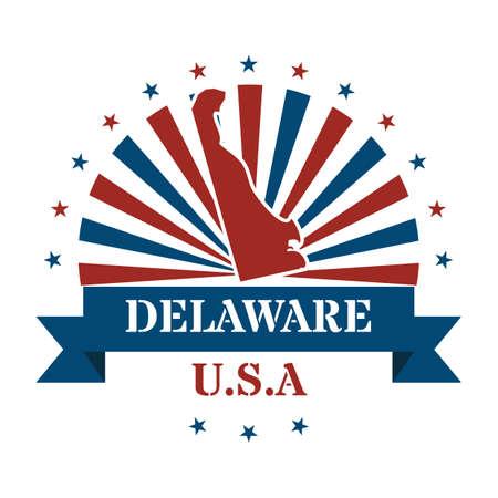 delaware: delaware state map label