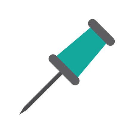 push pin: push pin Illustration