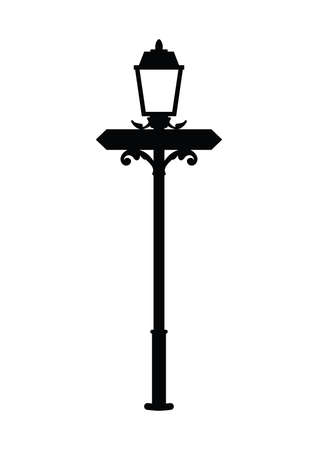 lamps: silhouette of street lamp