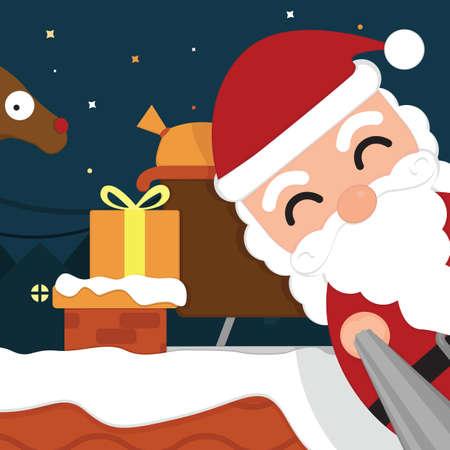 distributing: santa distributing gifts