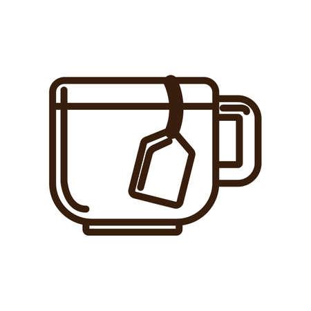 tea bag: cup with tea bag