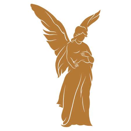 engelensilhouet Stock Illustratie