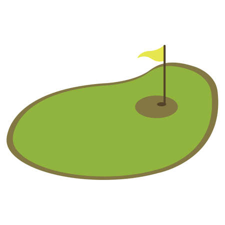 putting green: golf course