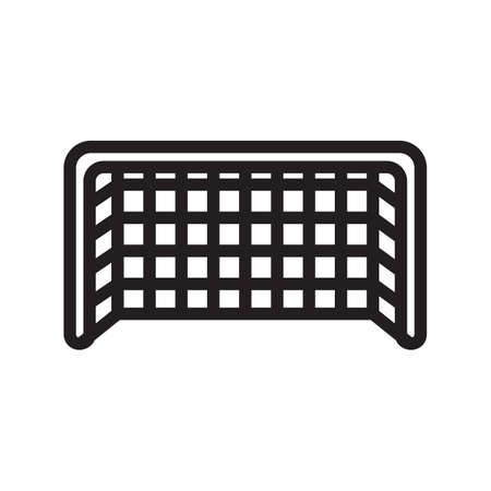 goal net: football goal net Illustration