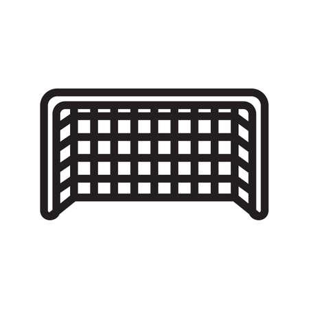 voetbaldoel netto Vector Illustratie