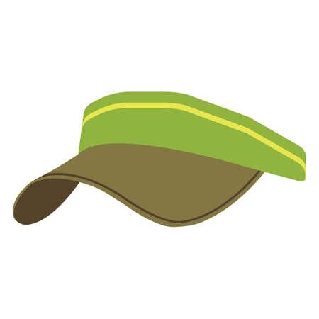 golf visor Vektorové ilustrace