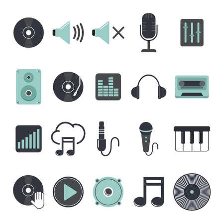 high volume: dj icon set