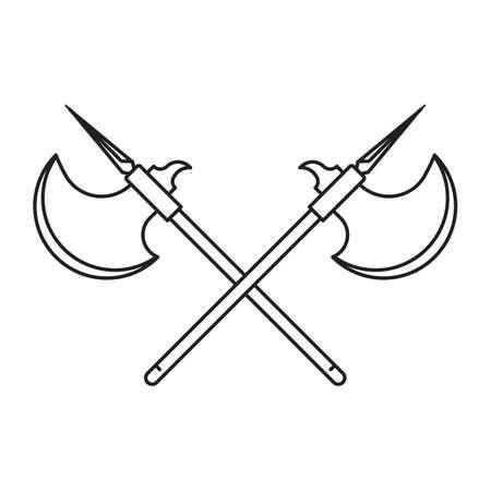axes: crossed battle axes Illustration