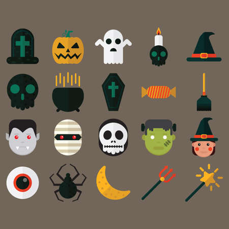 icône de Halloween définie
