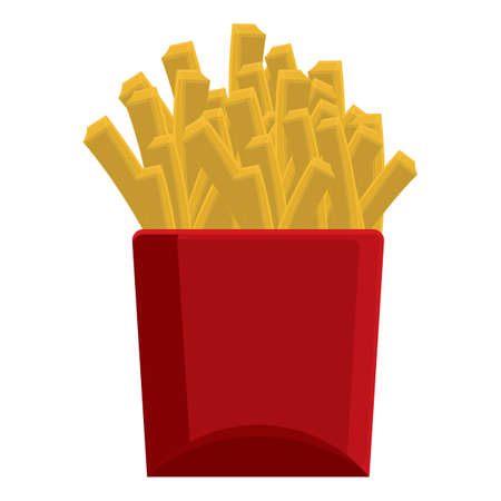 food box: french fries Illustration