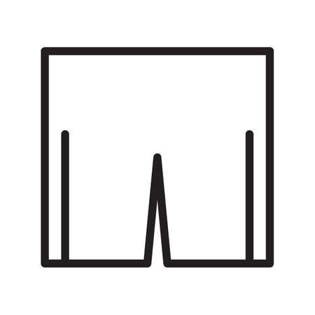 pant: short pant Illustration
