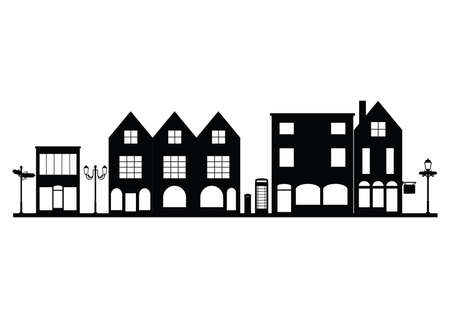 building silhouette: silhouette of buildings