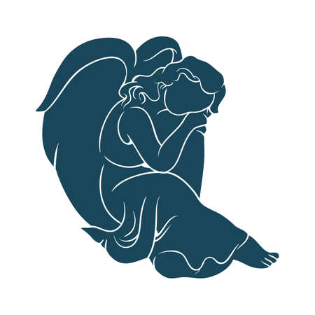 angelo silhouette Vettoriali