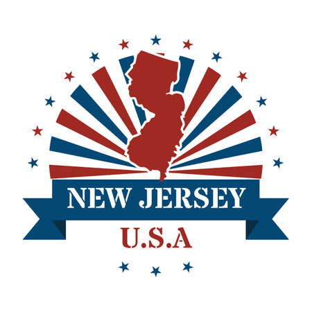 jersey: new jersey state map label