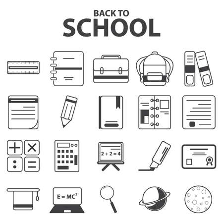 scribbling: educational icons